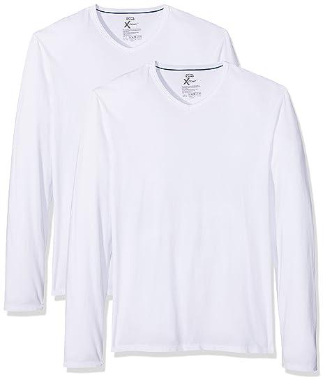 7300858e97fb4 Dim - X-Temp - Maillot de corps - Uni - Lot de 2 - Homme - Blanc (Blanc  Blanc) - X-Large (Taille fabricant  XL)  Amazon.fr  Vêtements et accessoires