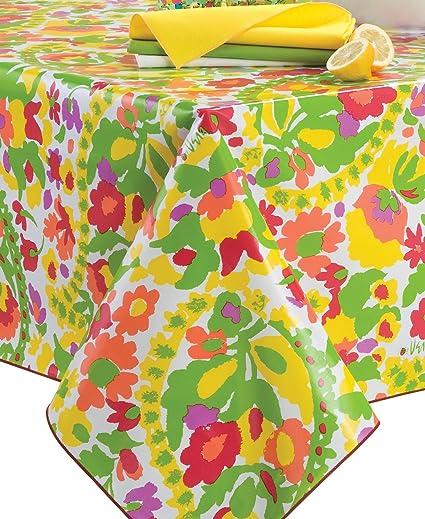 Vera Flower Carpet 60x84u0026quot; Oblong Waterproof Umbrella Tablecloth