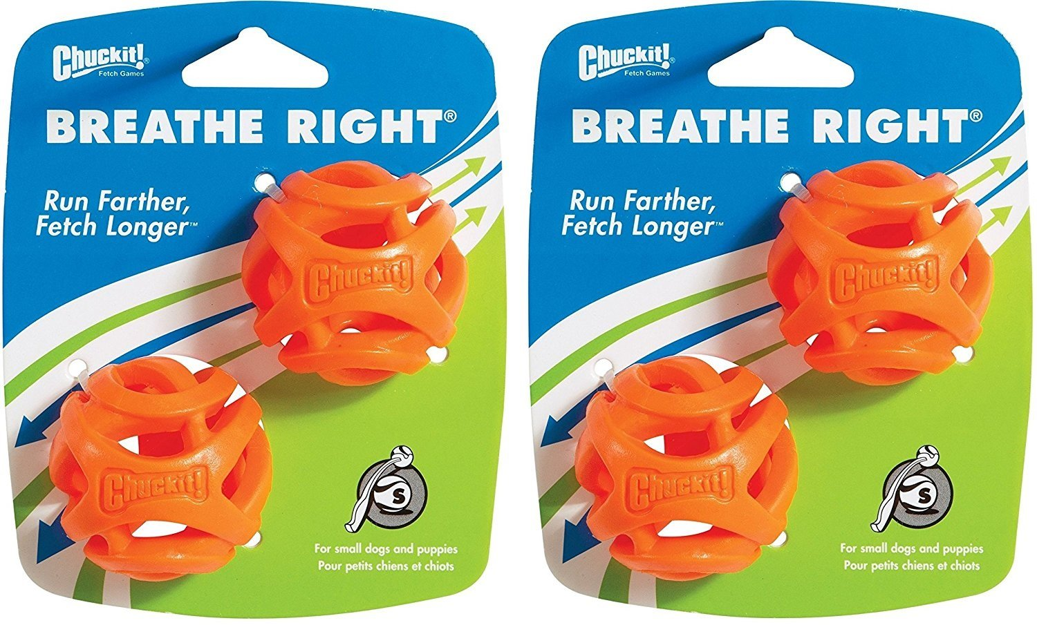 4 pack Chuckit  Breathe Right Fetch Ball