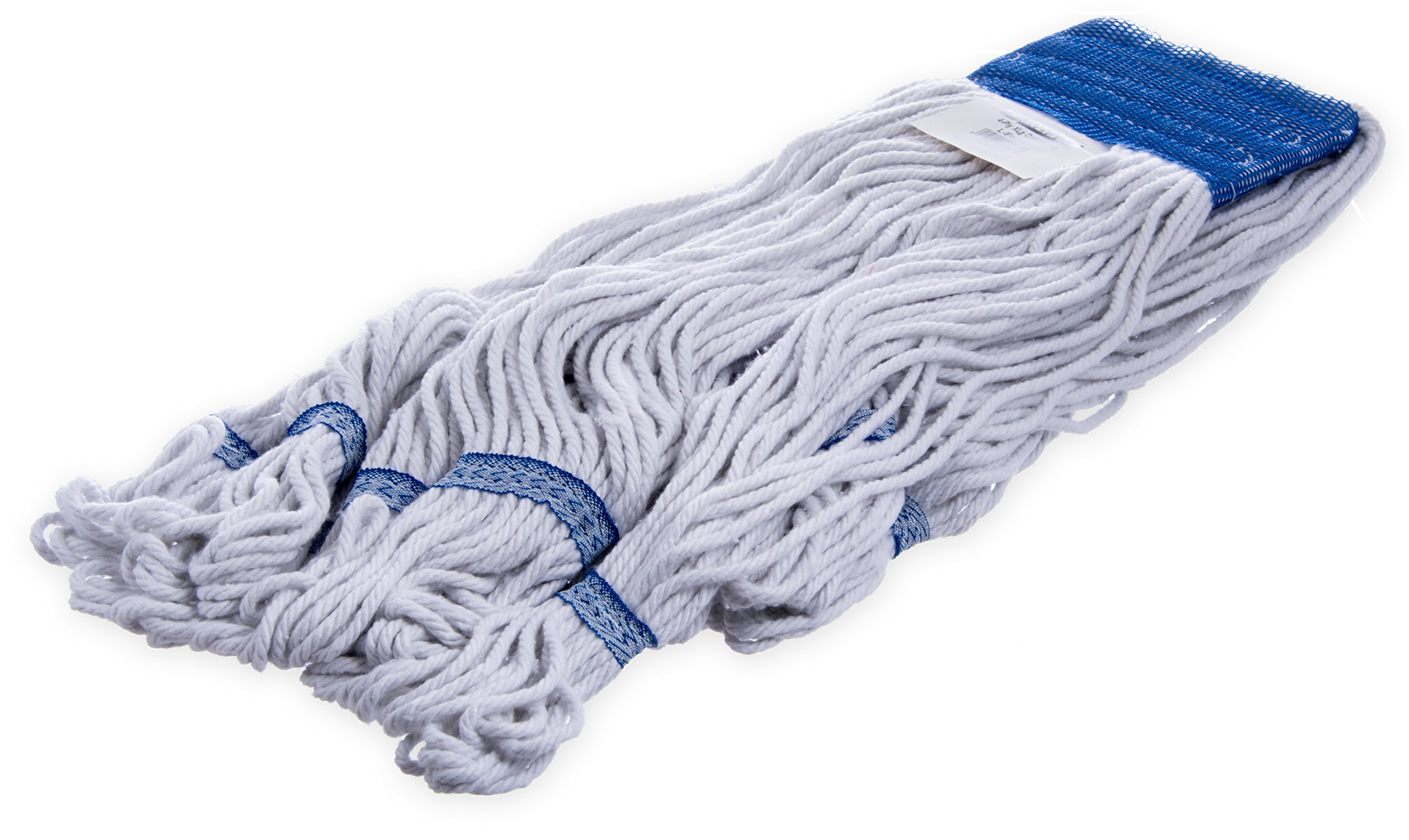 Carlisle 36943000 Band Mop with Looped End, 12'' H, 5'' W, 18'' L, X-Large, Blue (Pack of 12)