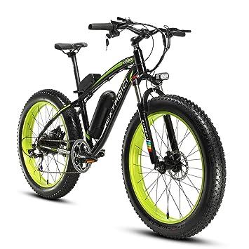 Cyrusher Extrbici XF660 Verde Negro 48V 500 vatios Bicicleta eléctrica para hombre de la bici verde