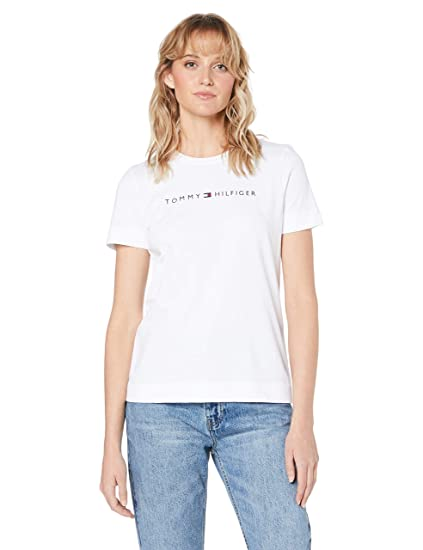 best authentic new cheap top brands Tommy Hilfiger WW0WW25281 T-Shirt Femme Blanc XS: Amazon.fr ...