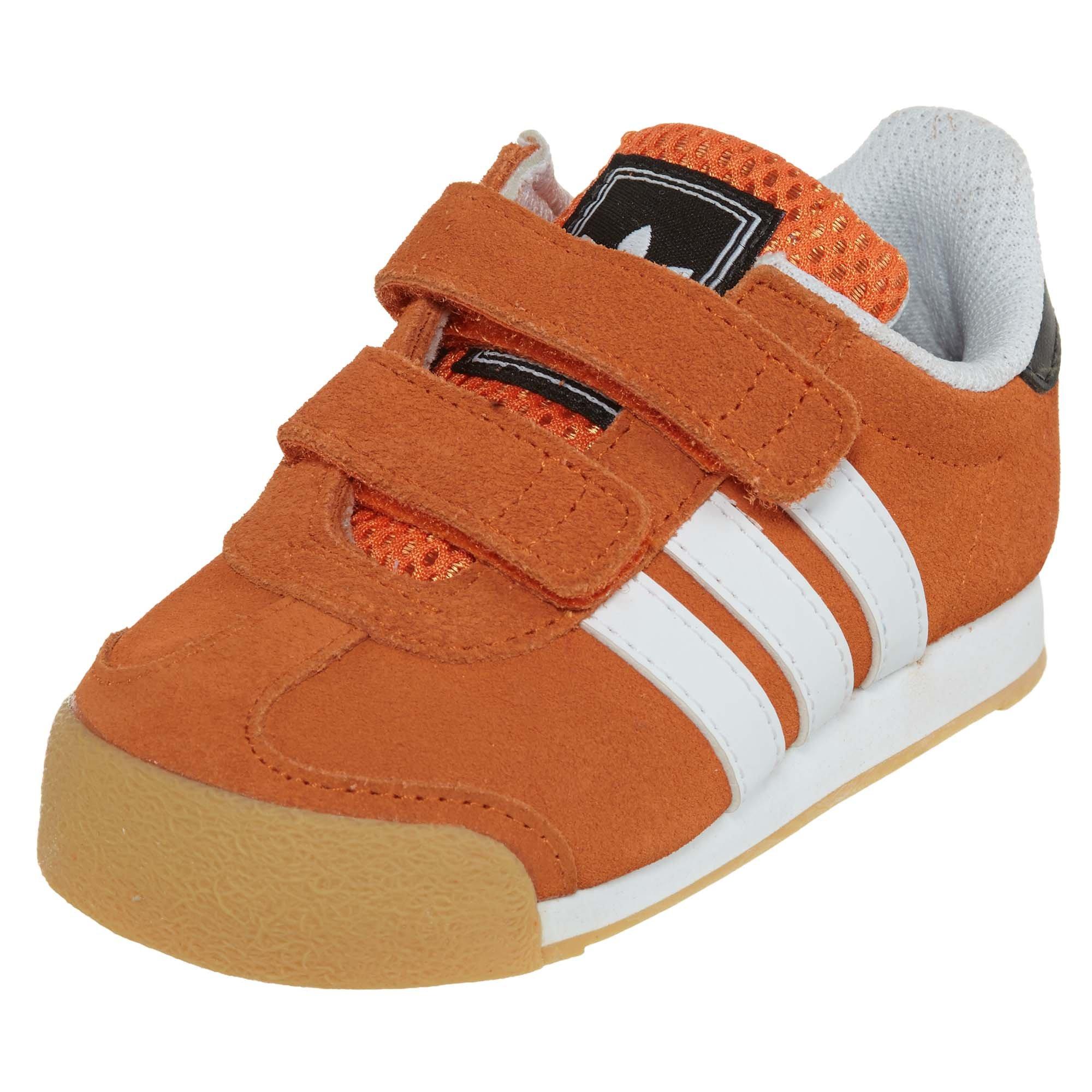 Adidas Samoa Toddler Style: C75475-ORANGE/WHI/BLACK Size: 6.5