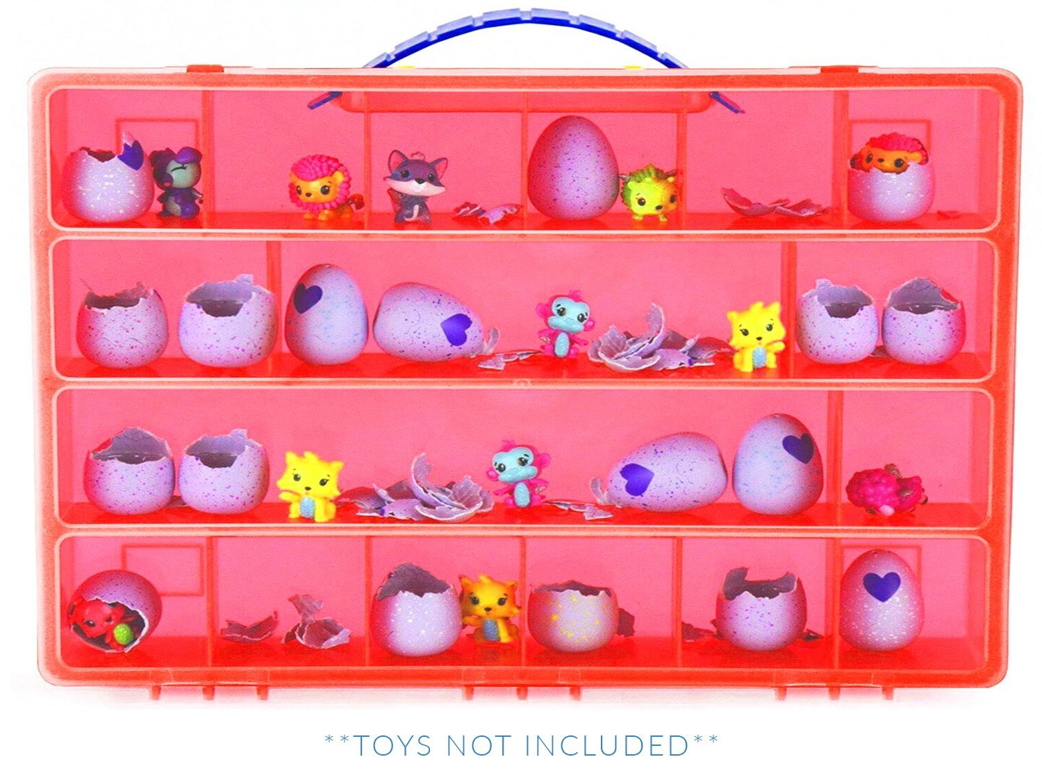 My Egg Crate Storage Organizer By Life Made Better - Compatible with the Hatchimals and Hatchimal Colleggtibles brands - Durable Carrying Case For Mini Eggs, Easter Eggs & Speckled Eggs – Red LMB100