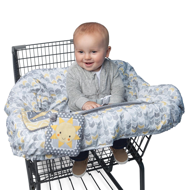 Boppy Shopping Cart Cover, Sunshine/Gray 7300472K 3PK