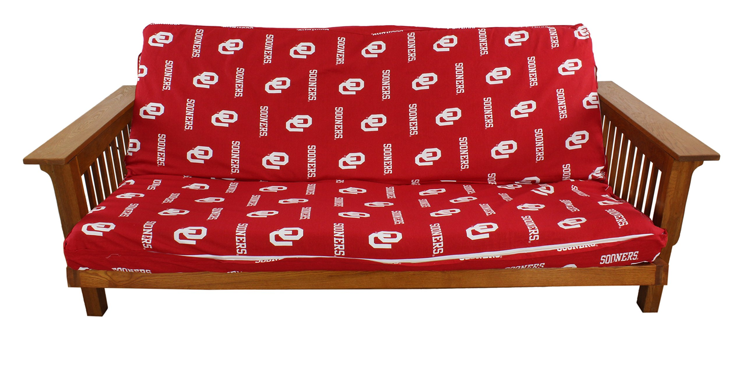 College Covers Oklahoma Sooners Futon Lounge Cover, Full