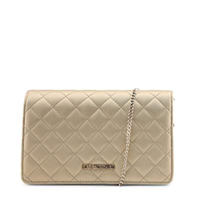 d20a0513a08b2 Love Moschino small shoulder bag in metallic copper pink quilted leather.  Shoulder strap with copper