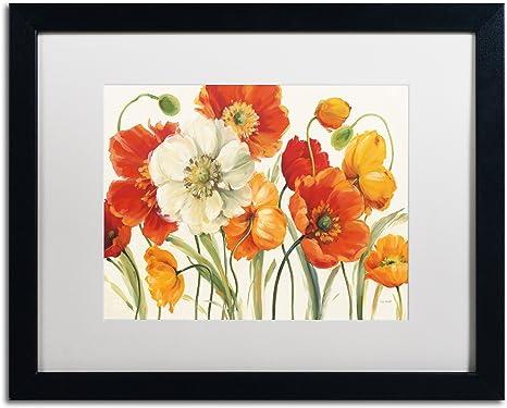 16/'/' x 20/'/' /'/'Poppies/'/' Framed Canvas Wall ArtFramed Wall Art Print