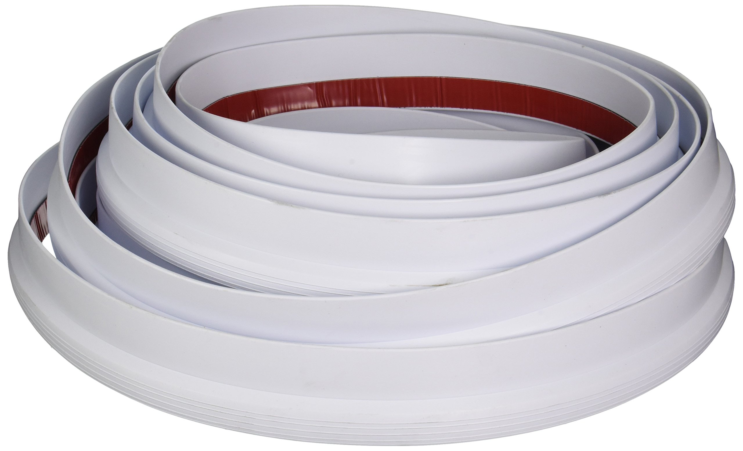 AP Products 0121.2100 018-314 Economy Rubber Slide-Out Seal with Wiper and Tape-5/8 x 1-15/16'' x 35', White