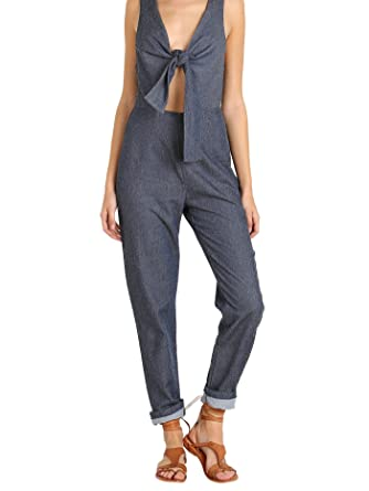 03f2a0ee7176 Image Unavailable. Image not available for. Color  Solid   Striped The Jumpsuit  Indigo