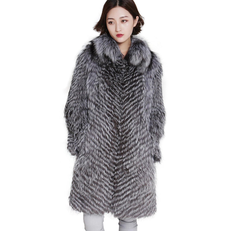 bc006b01f06 Feissi length silver fox fur coat at amazon women coats shop jpg 1500x1500 Silver  fur coat