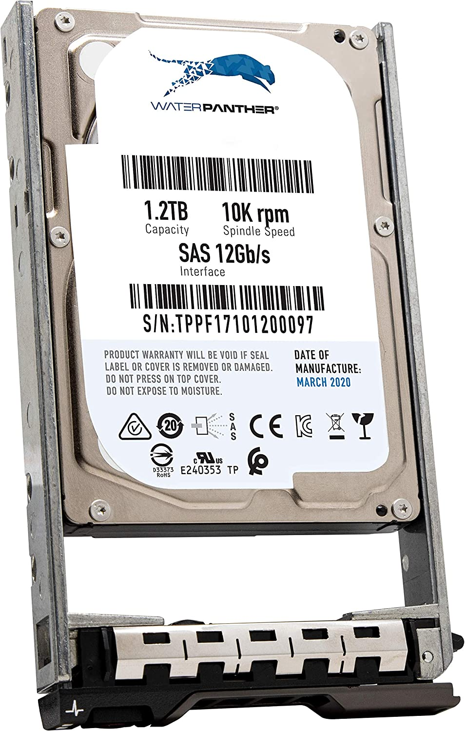 "1.2TB 10K SAS 12Gb/s 2.5"" HDD for Dell PowerEdge Servers 