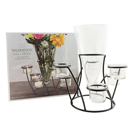Amazon Stonebriar Glass Vase Tea Light Votive Set Modern
