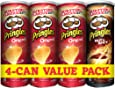 Pringles Original Flavored Chips 3 Cans Plus Pringles Hot and Spicy Flavored Chips Can,  165 grams each (Pack of 4 cans)