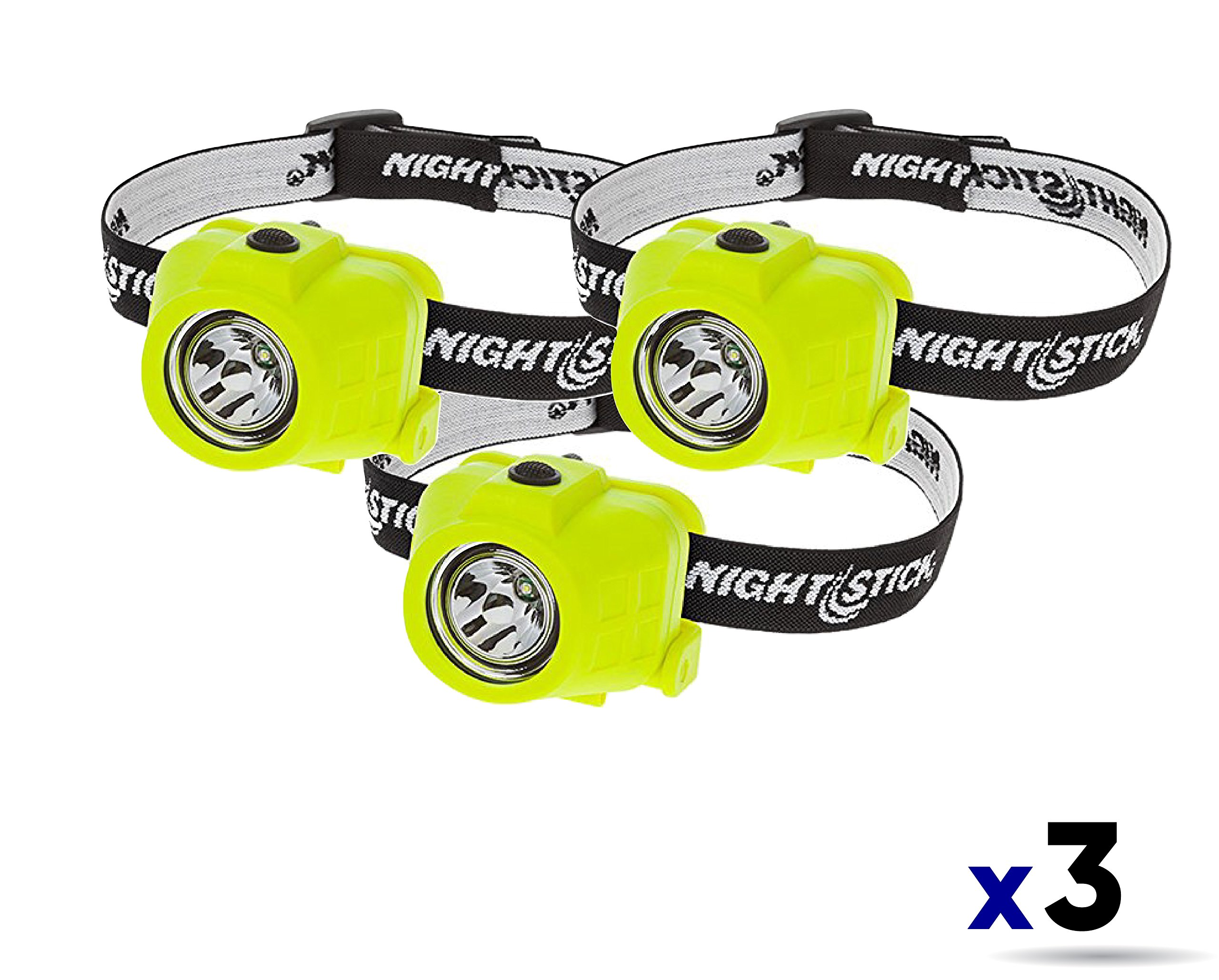 Nightstick XPP-5450G Intrinsically Safe Permissible Dual-Function Headlamp Color Green (3 Pack)