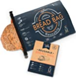 Reusable Bread Bag for Homemade Bread, Made from Recycled Plastic Bottles - Freezer-Safe Food Storage Bag with Double…
