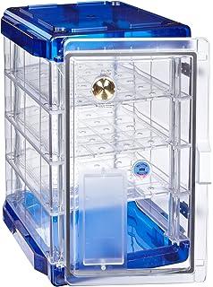 Bel-Art Secador Clear 4.0 Vertical Desiccator Cabinet with Blue End-Caps; 1.9