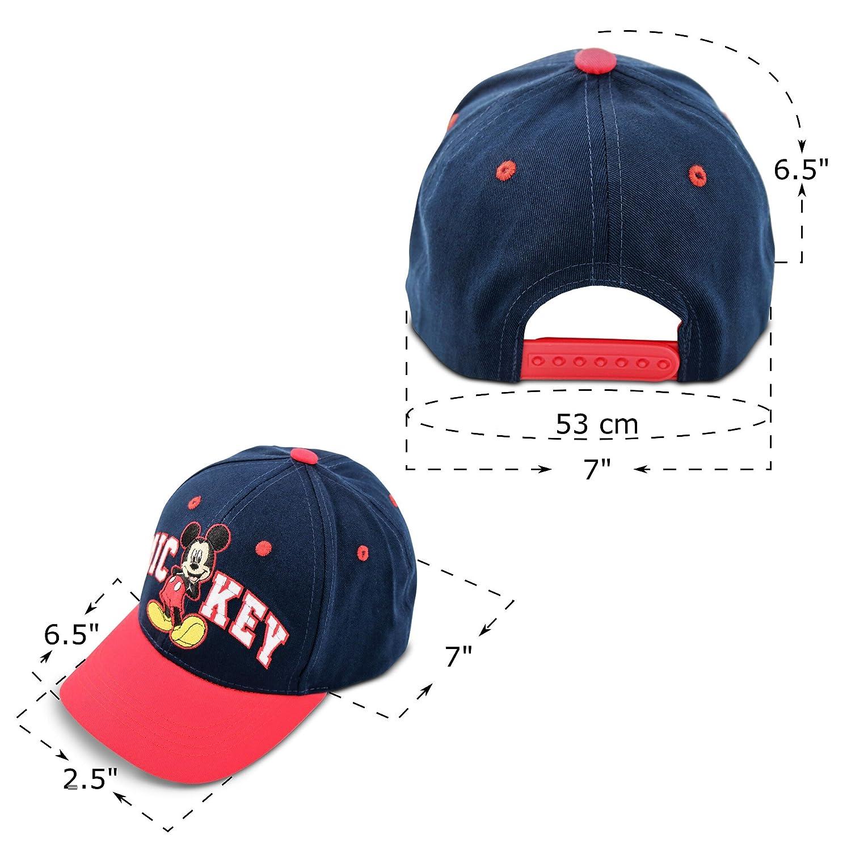 Disney Little Mickey Mouse - Gorra de béisbol de algodón para niño Azul  Rojo Talla única 85f95392f8e