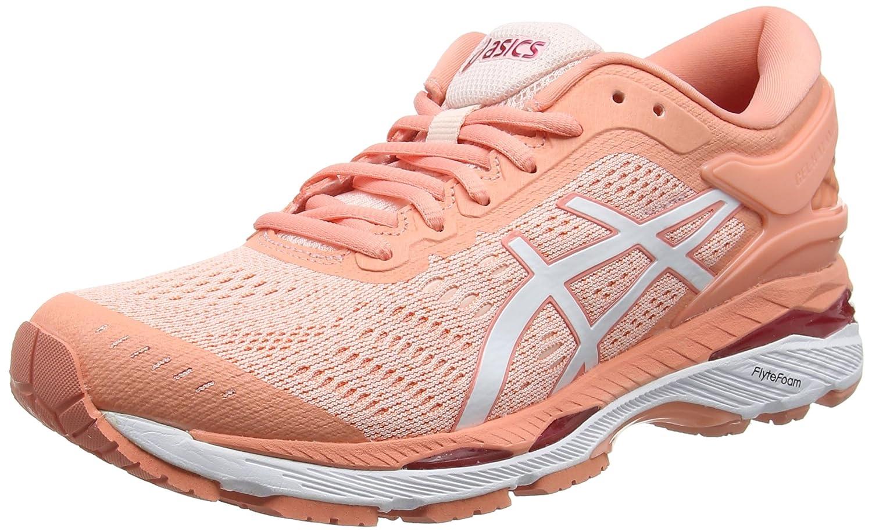 Asics Gel-Kayano 24, Zapatillas de Entrenamiento para Mujer 37.5 EU Rosa (Seashell Pink / White / Begonia Pink 1701)