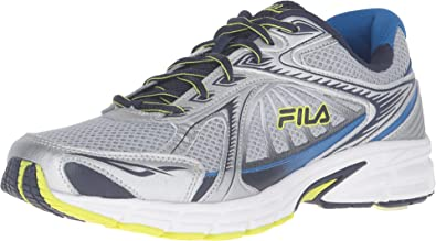 8bd3db8781c3 Fila Men s Omnispeed Metallic Silver Fila Navy Lime Punch Sneaker 10 D (M