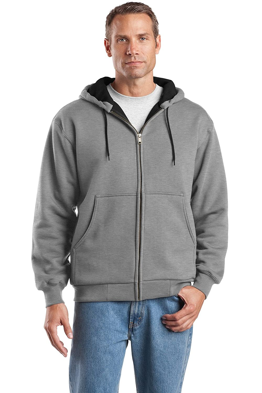 Cornerstone Herren Heavyweight Full Zip Sweatshirt mit Kapuze