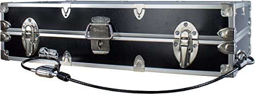 C N Footlockers College Dorm Room Under Bed – The Slim Lockable Trunk – 32 x 18 x 8.25 Inches With Cable Lock