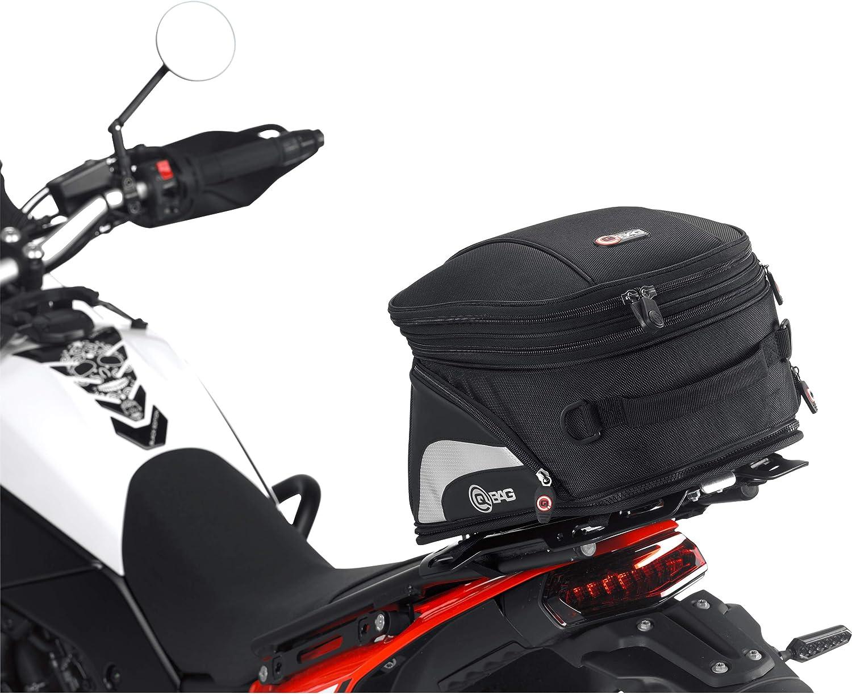 Qbag Hecktasche Motorrad Motorradtasche Hecktasche St07 Abnehmbar 10 16 Liter Stauraum Unisex Multipurpose Sommer Nylon Schwarz Auto