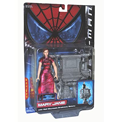 SpiderMan Movie ToyBiz Action Figure Mary Jane Break Away Balcony: Toys & Games