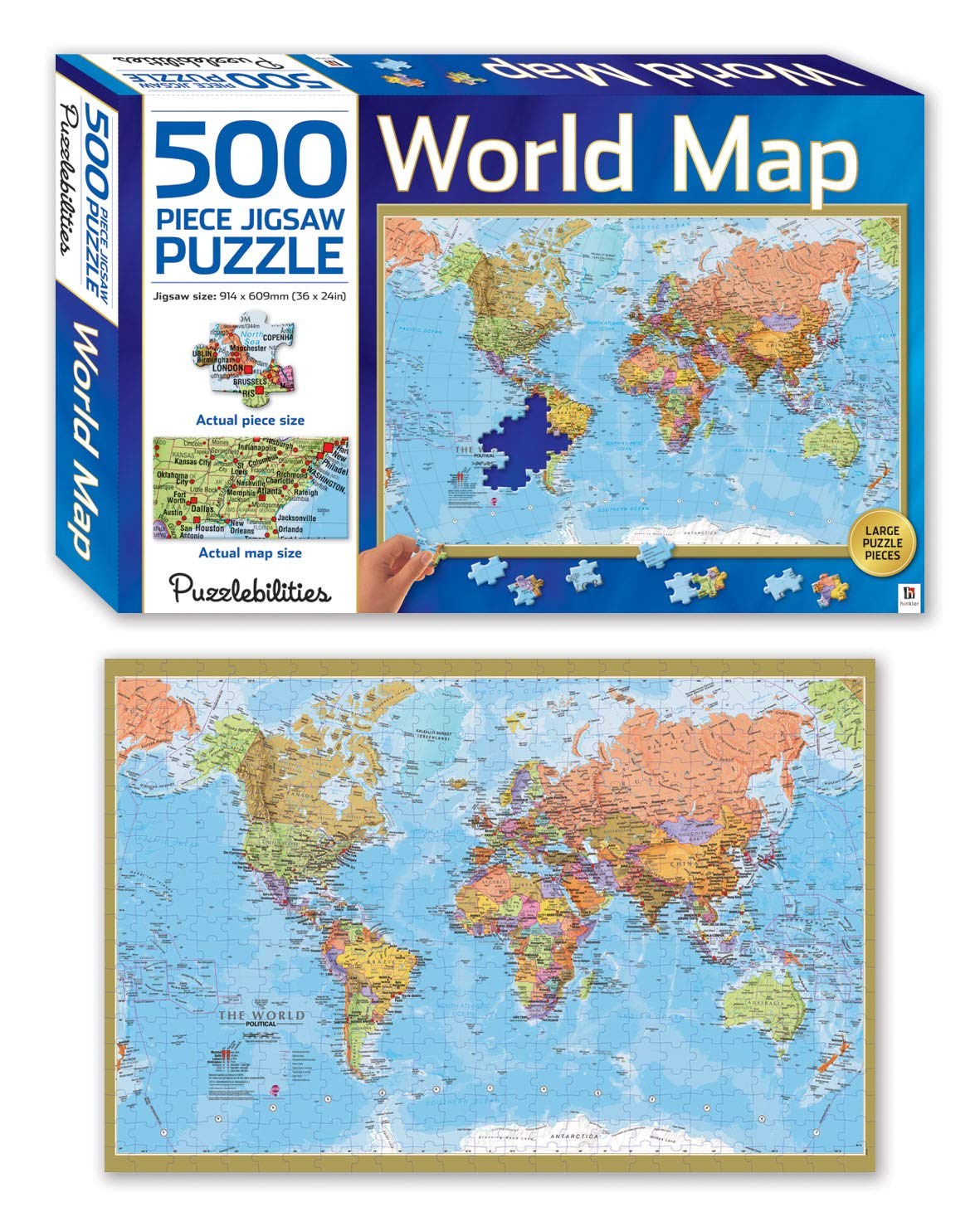 World Map 500 Piece Jigsaw Puzzle Puzzlebilities Amazon In Books