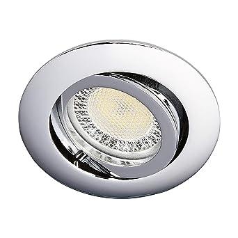 Lampenwelt Led Einbaustrahler Lisara Modern In Chrom Aus Metall