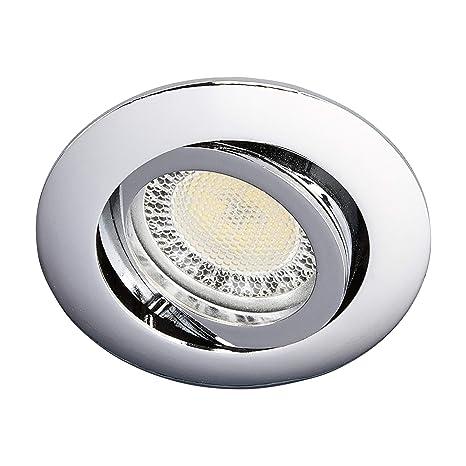 """LED Foco empotrado""""Lisara"""" (Moderno) en Plateado hecho de Metal e.o. para"""