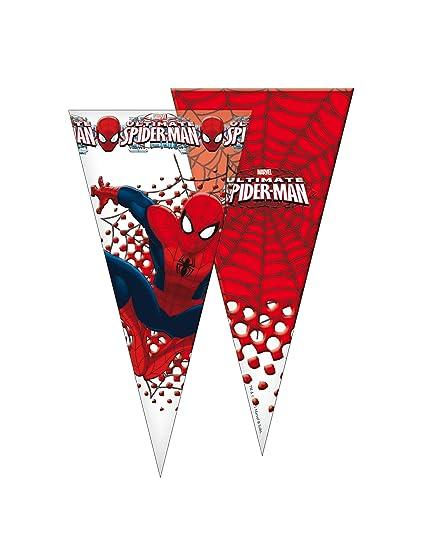 Generique - 6 Bolsas con Forma de Cono Spiderman20x40 cm ...