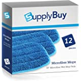 """SupplyBuy 18"""" Premium Microfiber Wet Mop Pads 