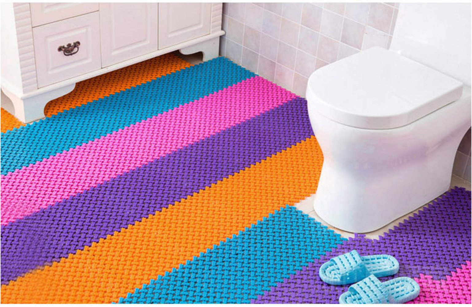Splicing & anti-slip & Kitchen bathroom & Non-slip mat & Kitchen & bathroom & Non-slip mat