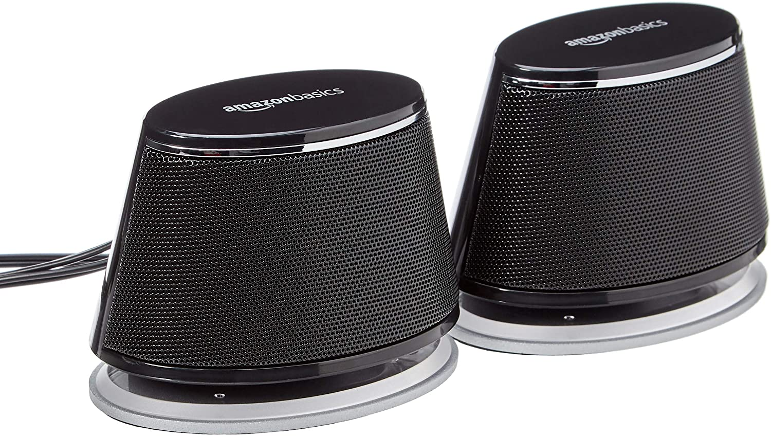 Amazon Basics USB-Powered PC Computer Speakers with Dynamic Sound  Black