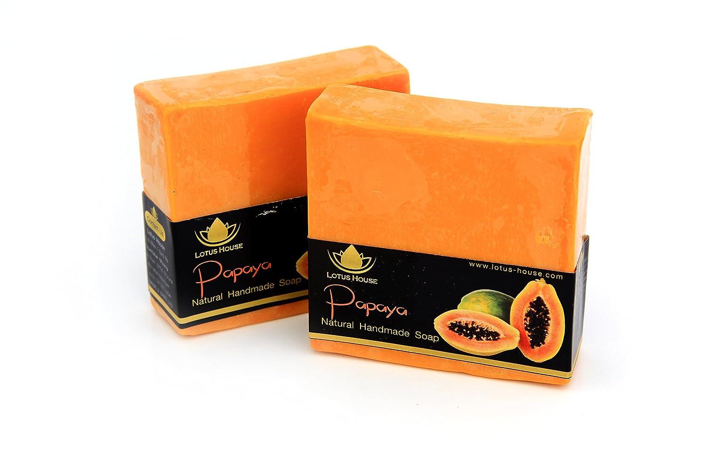 Lotus House Papaya Natural Handmade Soap (300g) / 3 Bars
