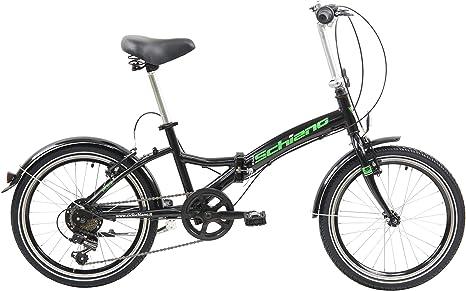 F.lli Schiano Pure Bicicleta Plegable, Unisex-Adult, Negro-Verde ...