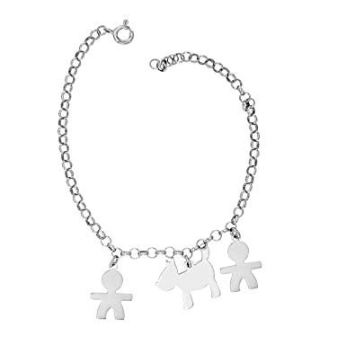 Padre Nostro - Bracelet spheres 3MM with dachshund Silver 925 GRPyrB8Cyu