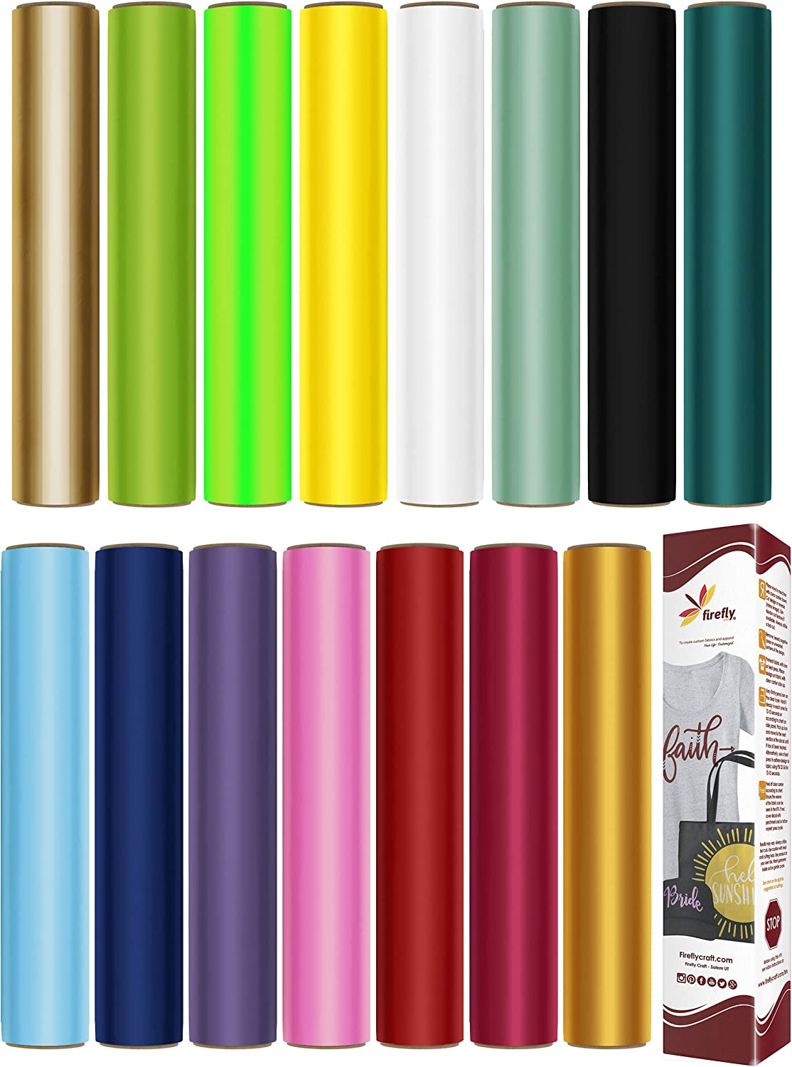 """Firefly Craft HTV Heat Transfer Vinyl Bundle 