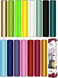 Firefly Craft HTV Heat Transfer Vinyl Bundle | Made for Silhouette or Cricut Iron On Vinyl | 15 Best Selling Colors…