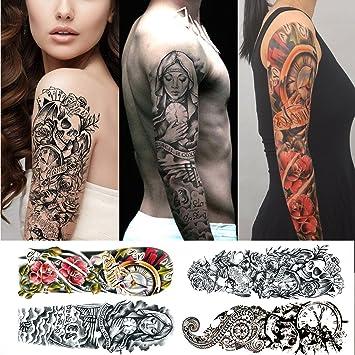 Tatouages Temporaires Bras Homme Et Femme Pack De 4 Tatouages