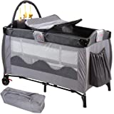Infantastic Baby Bed Travel Cot Portable Child Nursery Furniture with Toys - Design Choice