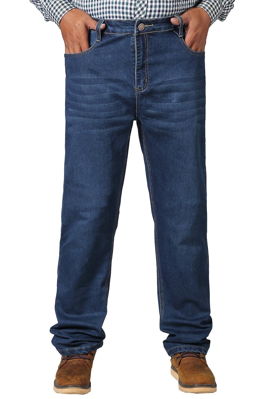 Menschwear Herren große Größen Jeans 5-Pocket Denim Strecken Stein Waschen  36-50: Amazon.de: Bekleidung