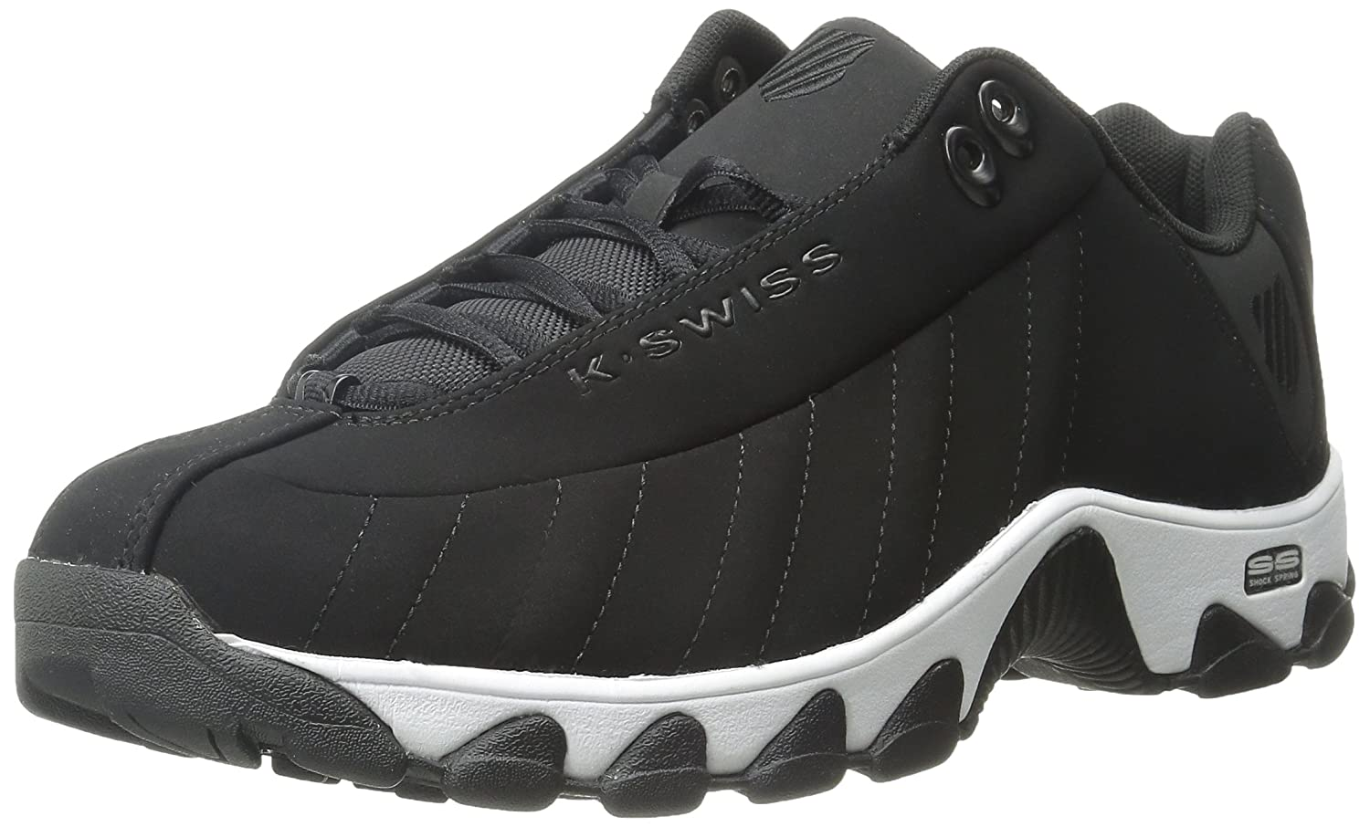 K-Swiss Mens ST329 Fashion Sneakers B011UC54MU 8 D(M) US|ブラックホワイト