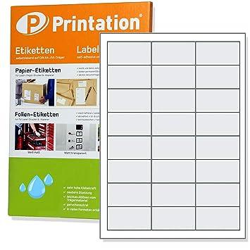 10 Bögen Etiketten 66 x 33,9 mm je 24 Sticker auf DIN A4 selbstklebend weiß