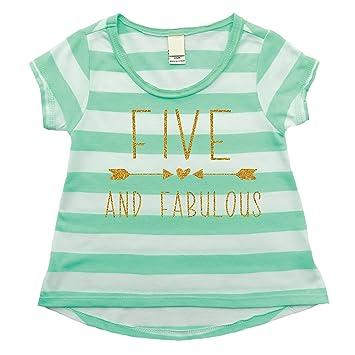Amazon Girl 5th Birthday Shirt Five And Fabulous 5T Baby