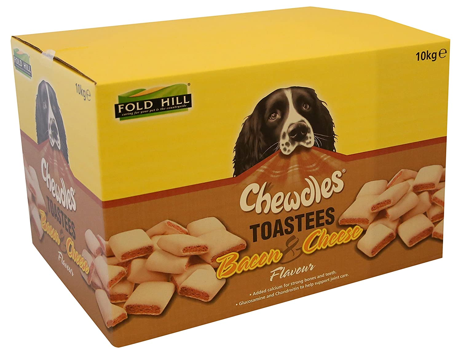 Fold Hill Chewdles Toastees Bacon and Cheese Flavour 10kg