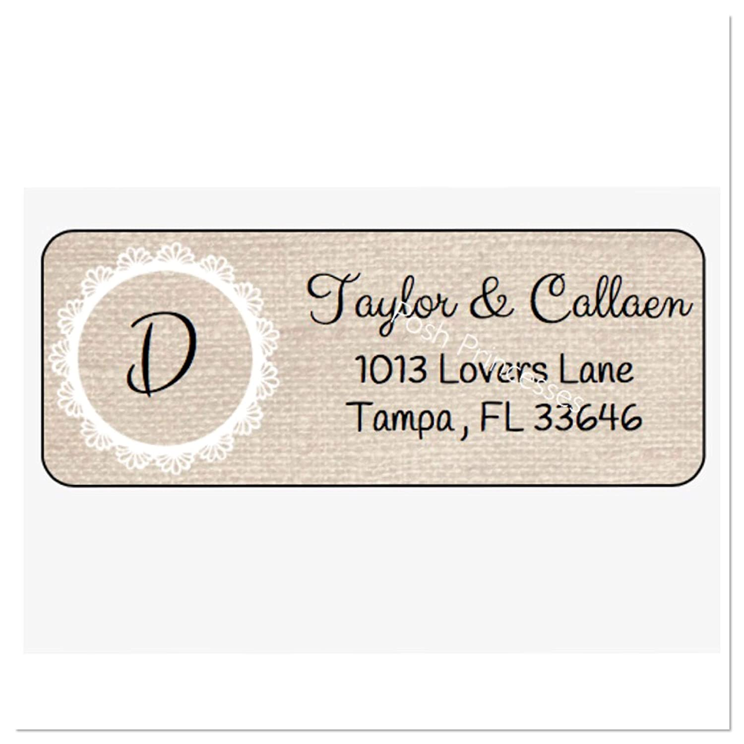 Amazon com burlap personalized address labels set of 30