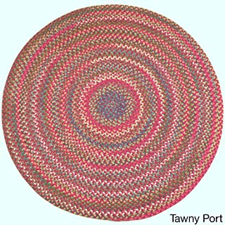 product image for Rhody Rug Charisma Indoor/Outdoor 6-Foot Round Braided Rug by Red