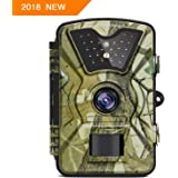 "【NEW VERSION】Trail Camera Trail Game Cameras 12MP 1080P 2.4"" LCD Infrared Night Vision Hunting Camera with 24LEDs, Motion Sensor and 940nm IR LEDs, Up to 65ft/20m, 0.5s Trigger Speed, IP66 Waterproof"